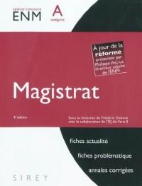 Magistrat : Catégorie A