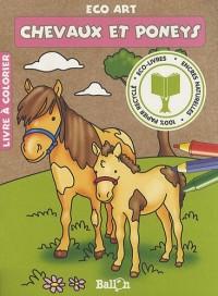 Chevaux et poneys : Livre à colorier