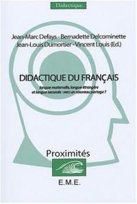 Didactique du français : Langue maternelle, langue étrangère et langue seconde : vers un nouveau partage ?