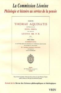 Revue des sciences philosophiques et théologiques, N° 89 : La Commission Léonine