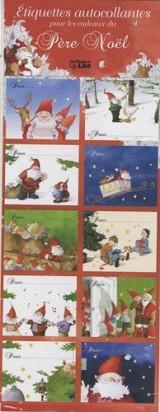 Etiquettes autocollantes pour les cadeaux pere Noël : rouges