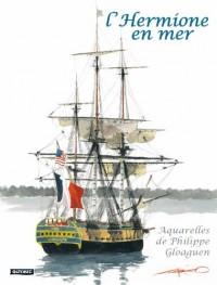Carnet d´aquarelles - L´Hermione en mer