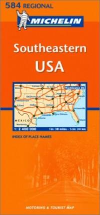 Carte routière : Southeastern USA, N° 11584 (en anglais)
