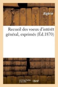 Recueil des Voeux d Interet Gal  ed 1870