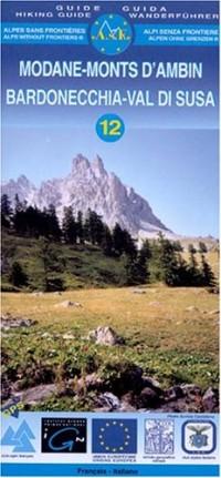 Carte de randonnée : Modane - Monts d'Ambin (bilingue Français-Italien)