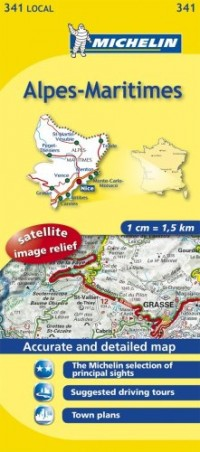 Michelin Map France: Alpes-maritimes 341