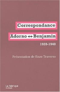 Correspondance adorno-benjamin 1928-1940