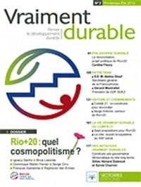 Vraiment durable N°2. Le sommet RIO + 20