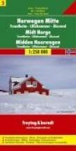 Carte routière : Norvège Centrale