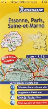 Essonne, Paris, Seine-et-Marne : 1/150 000