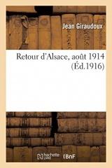 Retour d'Alsace, août 1914