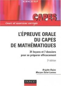 L'épreuve orale du Capes de mathématiques