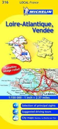 Michelin Map France: Loire-atlantique, Vende 316