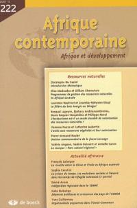 Afrique Contemporaine 2007/2-No 222 Dossier Ressources Naturelles
