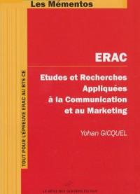 ERAC Etudes et Recherches Appliquées à la Communication et au Marketing : BTS Communication des Entreprises