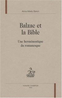 Balzac et la Bible : Une herméneutique du romanesque
