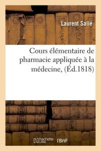 Cours Pharmacie Medecine  ed 1818