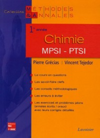 Chimie MPSI-PTSI 1e année