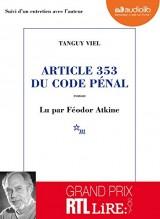 Article 353 du code pénal [Livre audio]