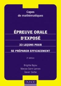 Capes de mathématiques : Préparation à l'épreuve orale d'exposé