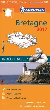 Carte Régionale 512 Bretagne 2017