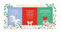 Merveilles de ma communion : Coffret 3 volumes : Prières pour parler à Dieu comme à un ami ; Livre d'or de ma communion ; Sagesses de la Bible pour être heureux