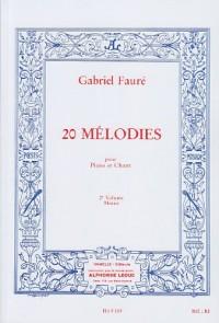 60 Mélodies en 3 Volumes - Volume 2 : 20 Mélodies mezzo soprano