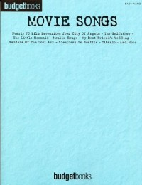 Budgetbooks: Movie Songs (Easy Piano). Partitions pour Piano, Chant et Guitare(Symboles d'Accords)