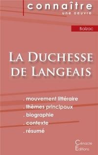 Fiche de lecture La Duchesse de Langeais de Balzac (analyse littéraire de référence et résumé complet)