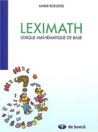 Leximath : Lexique mathématique de base