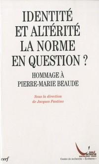 Identité et altérité : la norme en question ? : Hommage à Pierre-Marie Beaude