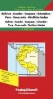Bolivie Ecuador Guayana Colombia Pérou Venezuela Andes du Nord : 1/4 000 000