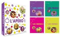 L'apéro : Coffret en 4 volumes, Ô les Dips ! ; Ô les trios ! ; Ô les drinks ! ; Ô les tapas !