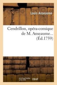 Cendrillon  Opéra Comique  ed 1759