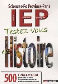Testez-vous en Histoire : Sciences-Po, Province-Paris, IEP