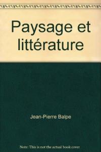 Paysage et littérature