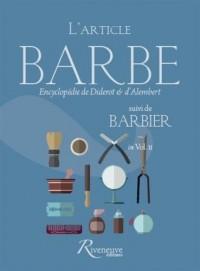 L'article BARBE suivi de BARBIER