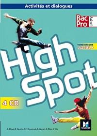 HIGH SPOT Tome unique 2de/1re/Tle Bac Pro - Éd. 2017 - CD audio
