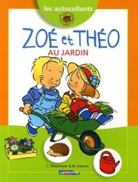 Zoé et Théo au jardin