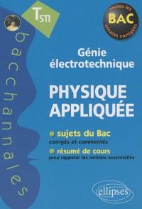 Physique appliquée Tle STI génie électrotechnique