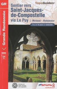 Sentier vers Saint-Jacques-de-Compostelle via Le Puy-Moissac-Roncevaux : Plus de 15 jours de randonnée