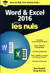 Word et Excel 2016 pour les Nuls, poche, 2e édition [Poche]