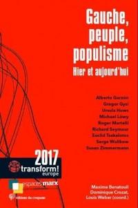 Gauche, peuple et populisme : Hier et aujourd'hui