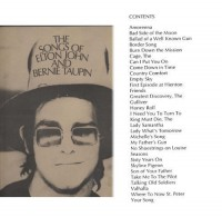Songs of Elton John & Bernie Taupin