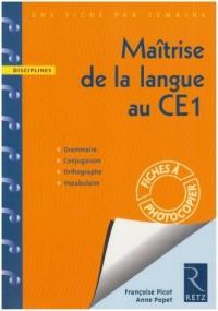 Maitrise de la Langue au CE1