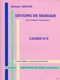 Devoirs de musique cahier 2