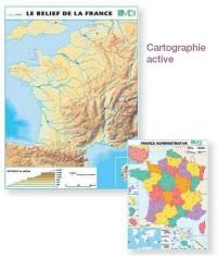 Le relief de la France / France administrative : Carte murale