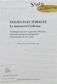 Folies électorales : Le manuscrit Codersac
