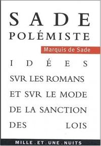 Idées sur les romans et mode de sanction des lois