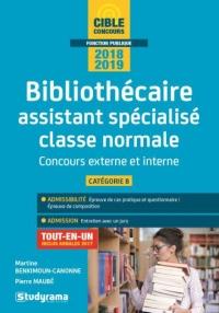 Bibliothécaire assistant spécialisé classe normale : Concours externe et interne Catégorie B